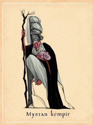 Мыстан кемпір. Иллюстрация Самал Кантар