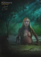 Кикимора болотная. Иллюстрация Эдуарда Халмурзаева