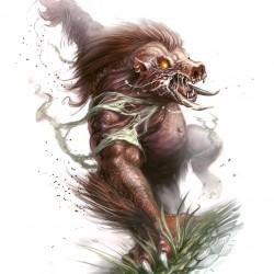 Вепрь-оборотень (Were-Boar). Иллюстрация Скотта Парди (Scott Purdy)
