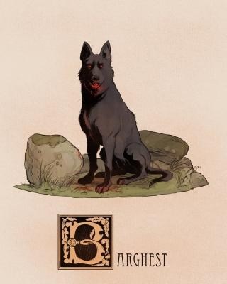 "Баргест. Иллюстрация Натана Андерсона (Nathan J. Anderson, ""Deimos-Remus"")"