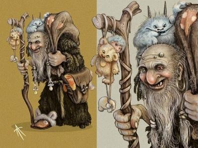 Дед бабай. Иллюстрация Владимира Аржевитина
