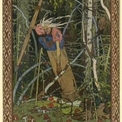 Баба Яга. Иллюстрация Ивана Билибина (1900)
