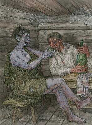 Бадзюля. Рисунок Валерия Слаука