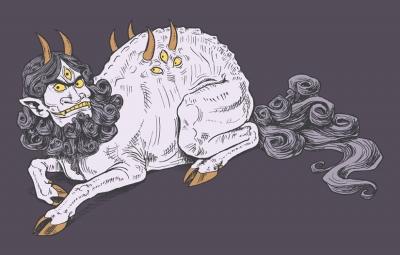 Байцзэ или Хакутаку. Рисунок Сьюзан Морган (S.H.Morgan)