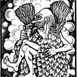 Банник. Иллюстрация Надежды Антиповой