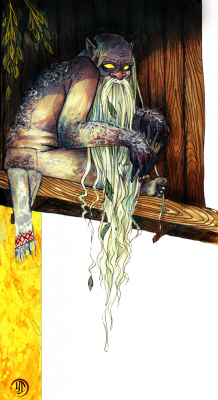 Банник. Иллюстрация Лидии Магоновой (Ink-Yami)