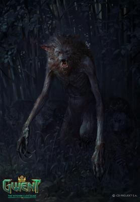 """Альфа Вервольф. Иллюстрация Бартоломея Гавела к ККИ """"Gwent: The Witcher Card Game"""""""