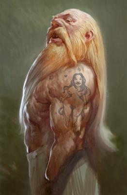 Дварф. Иллюстрация Бартоломея Гавела