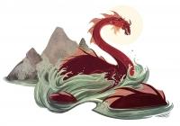 Лох-Несское чудовище. Иллюстрация Александрии Хантингтон