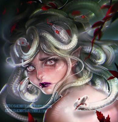Medusa's sorrow. Иллюстрация Сакими Чан