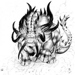 Бегемот. Рисунок Айзека Хорна