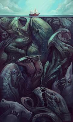Под поверхностью. Иллюстрация Джули Диллон