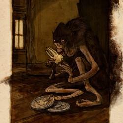 """Зубная фея. Иллюстрация Кейта Томпсона для фильма и книги Гильермо ДельТоро """"Don't be Afraid of the Dark"""""""