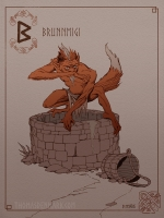 Бруннмиги. Иллюстрация Томаса Денмарка
