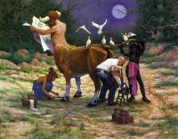 """Педикюр для Букентавра. Картина Хосе Переса """"The Podiatrist"""""""