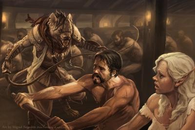 Burnt Saffron. Иллюстрация Мигеля Регодона Харкнесса (Miguel Regodón Harkness) к сеттингу Pathfinder