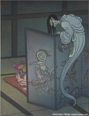 Бёбу-нодзоки. Иллюстрация Мэтью Мэйера