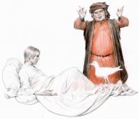 Каладрий. Иллюстрация Дениса Гордеева к бестиарию Сапковского
