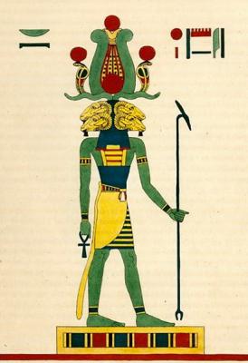 Банебджедет — египетский бараноголовый бог плодородия и рождаемости. Книжная иллюстрация