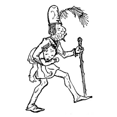 Подменыш. Иллюстрация Роберта Эннинга Белла к сказке братьев Гримм (1912)