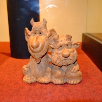 Черти. Керамическая фигурка из каунасского музея чертей