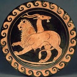 Химера. Краснофигурный килик, около 350-340 гг. до н.э.
