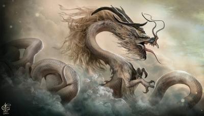 Китайский дракон. Иллюстрация Винсента Ковьелло