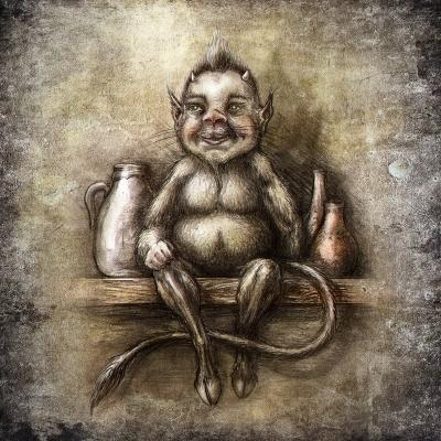 Хохлик. Рисунок Евгения Кота
