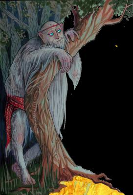 Чугайстер. Иллюстрация Лидии Магоновой (Ink-Yami)