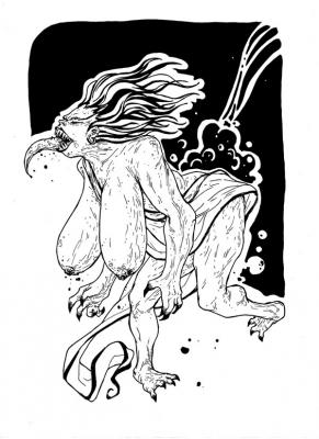 """Чурел. Иллюстрация Мод Кадира (Mohd Kadir) для """"Малазийской книги нежити"""""""