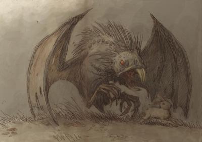 Ćmok (Цмок). Иллюстрация Павла Зыха (Paweł Zych)