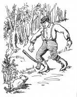 """Начелоскок. Иллюстрация Маргарет Рэмси Трайон из книги """"Устрашающие твари"""" (1939)"""