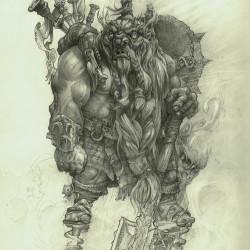 """Гном-сапёр. Концепт-арт Александра Стешенко к игре """"Panzar: Forged by Chaos"""""""