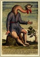 Человек-журавль на иллюстрации Улисса Альдрованди