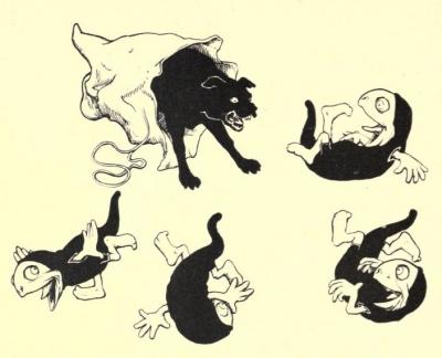 Хобьи и пёс. Иллюстрация Джона Баттена к английской сказке