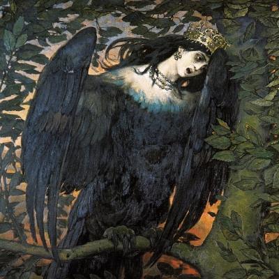 Сирин. Фрагмент картины В.М.Васнецова, 1896