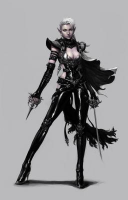 "Темная эльфийка-ассасин. Иллюстрация Chihwan ""dimelife"" Song"