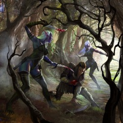 Темные эльфы. Иллюстрация Мигеля Коимбры
