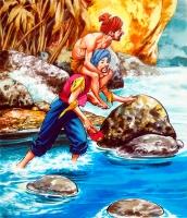 "Давалпа. Иллюстрация Надира Куинто к арабским сказкам про Синдбада-морехода из ""1001 ночи"" (1969)"