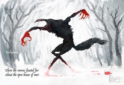 Вальравн. Иллюстрация Стива Лилли
