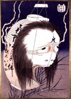 Призрак Оивы. Токайдо Ёцуя кайдан, рисунок Кацусика Хокусай