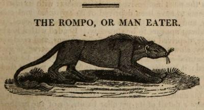 Ромпо или людоед. Гравюра Дж.Томпсона для книги Дж.Маклока (1815)