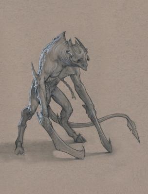 Демон-солдат. Иллюстрация Анастасиоса Гиониса