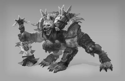 Hyena warrior. Иллюстрация Дениса Руцкого