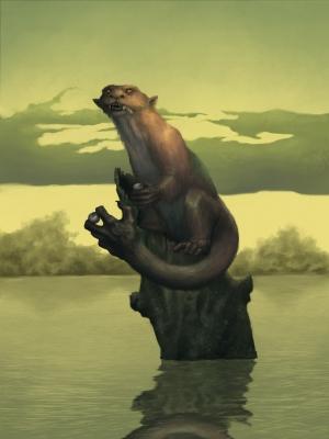 Ауисотль. Иллюстрация Диего де ла Роса