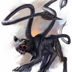 Displacer Beast из бестиария четвертой редакции AD&D