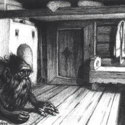 Домовой. Рисунок Ивана Билибина (1934)