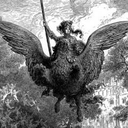 Рыцарь на гиппогрифе (фрагмент оригинального фронтисписа). Иллюстрация Г.Доре