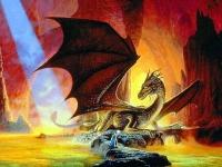 """""""Драконья пещера"""". Картина Кита Паркинсона"""