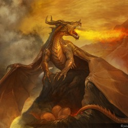 Дракон. Иллюстрация Юлии Алексеевой